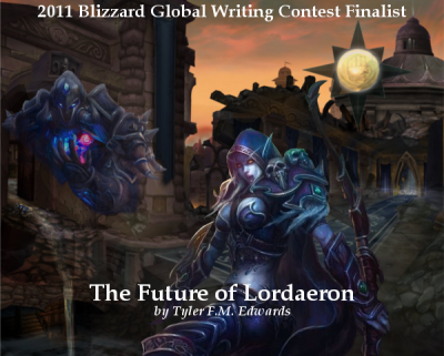 "Cover art for my fan fiction ""The Future of Lordaeron"""