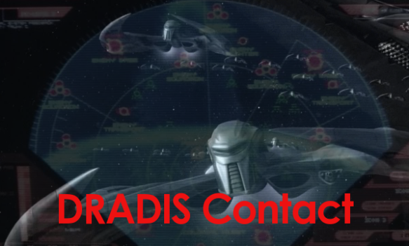 An image of Cylon raiders from Battlestar Galactica created for a graphics contest at GalacticaBBS