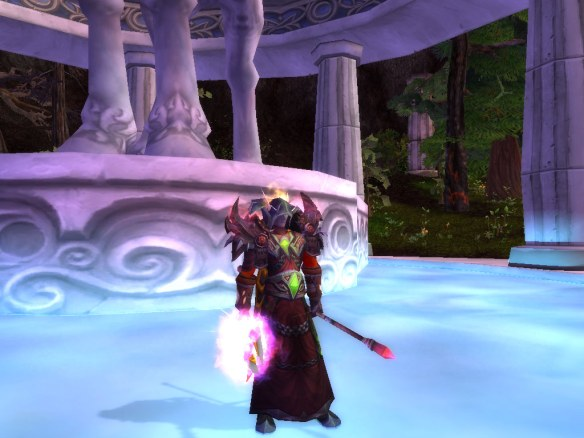 My Blood Elf mage in mount Hyjal