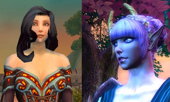 A comparison of World of Warcraft and Rift character models