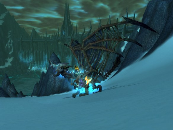 My bloodbathed frostbrood vanquisher reenacts the Wrath of the Lich King load screen