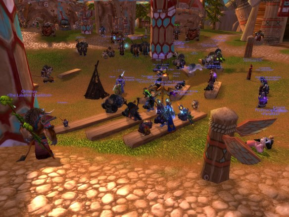 The weekly story circle in Thunder Bluff on Wyrmrest Accord