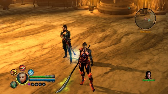 Anjali and Katarina show off their gear in Dungeon Siege III