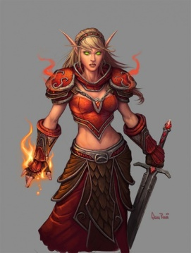 Art of a Blood Elf female by Glenn Rane