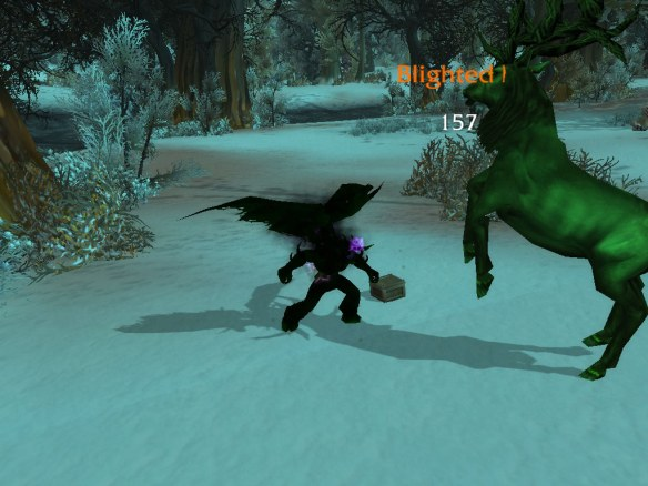 My warlock practicing for demonology tanking in Mists of Pandaria