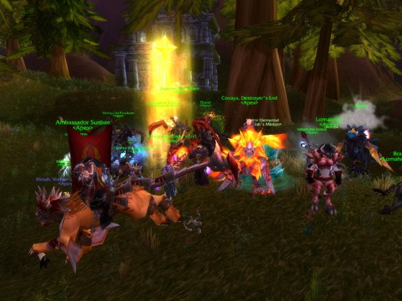 The forces of the Horde marshaling for Wyrmrest Accord's world PvP event