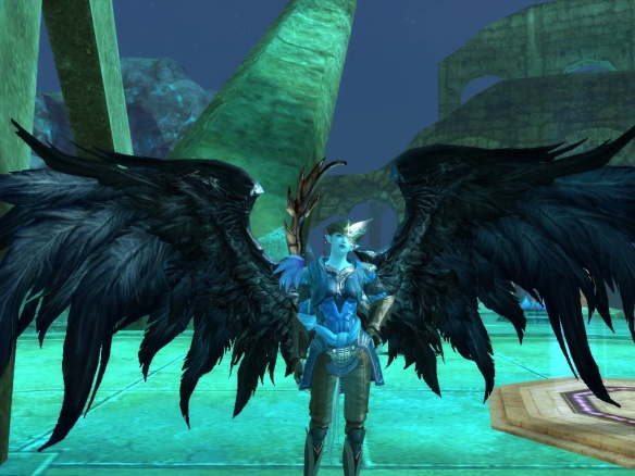 My Asmodian Aion character shows off her wings