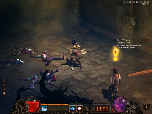 My wizard in the Diablo III open beta