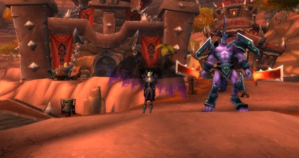 My warlock stylin' and profilin' with dark apotheosis in the Mists of Pandaria beta