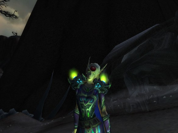 My warlock showing off the new lighting effects in the Mists of Pandaria beta