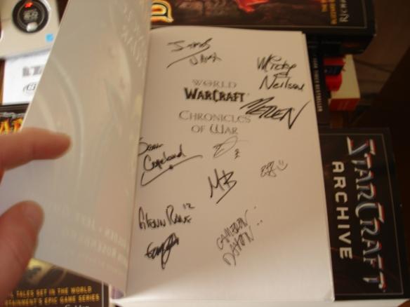 Metzen's autograph!