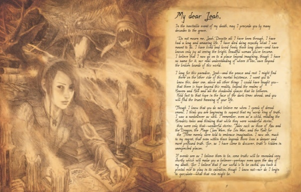 """Artwork and text from """"Diablo: The Book of Cain"""""""