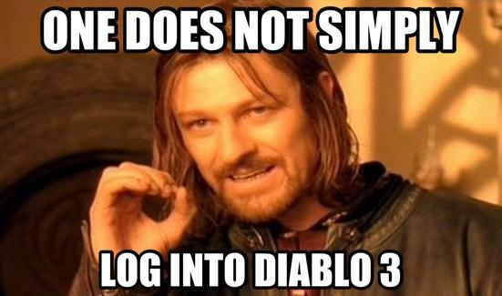One does not simply log in to Diablo III