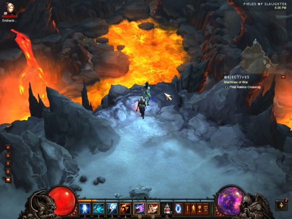My wizard taking in the sights near Bastion's Keep in Diablo 3's third act