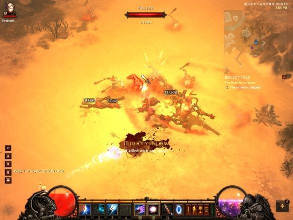 My wizard massacring demons near Caldeum in Diablo 3