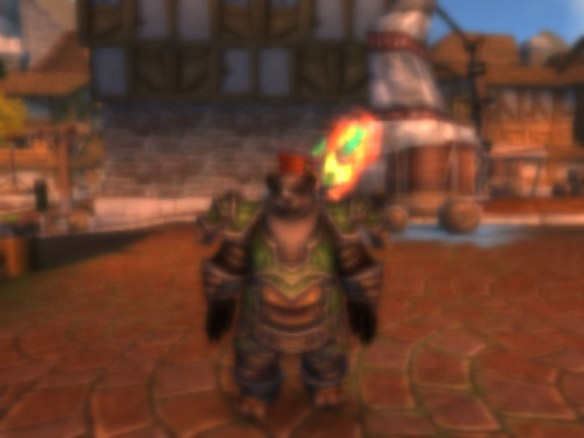 My smashed panda in the Mists of Pandaria beta