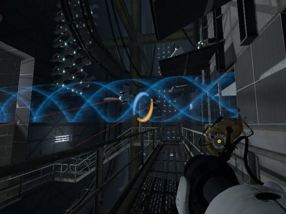 A scteenshot from Portal 2