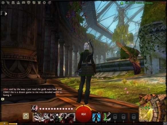 The center of Divinity's Reach in the Guild Wars 2 beta