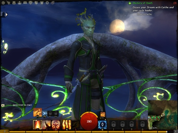 My Sylvari elementalist in the Guild Wars 2 beta