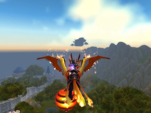The new gunship over Stormwind, added in patch 5.0.4