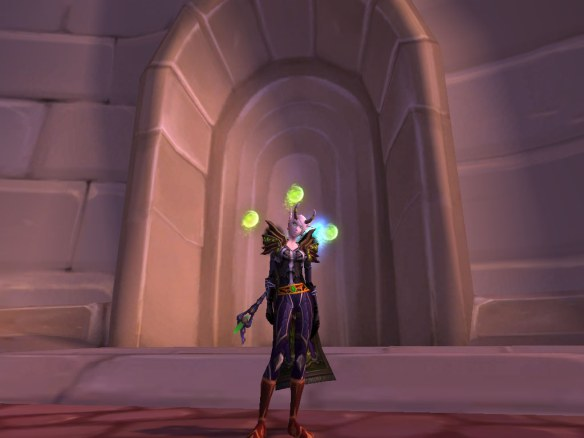 My warlock cosplaying as Prince Kael'thas with the new verdant spheres glyph