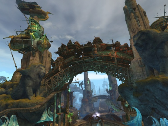 The city of Lion's Arch in Guild Wars 2