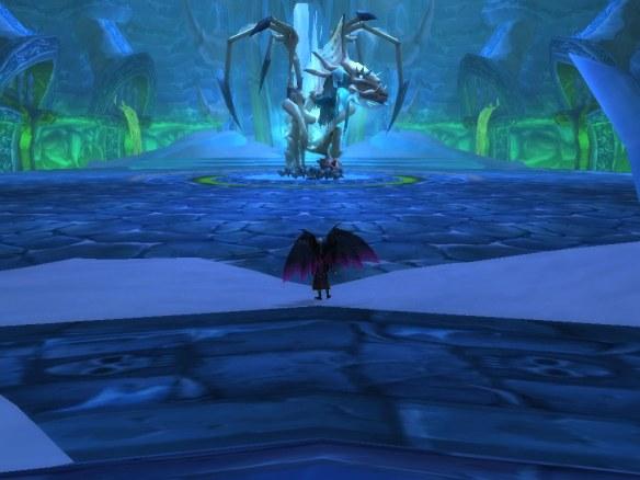 My warlock prepares to solo Sapphiron in Naxxramas