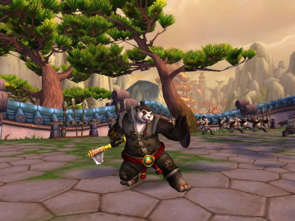 My Pandaren shaman on the Wandering Isle