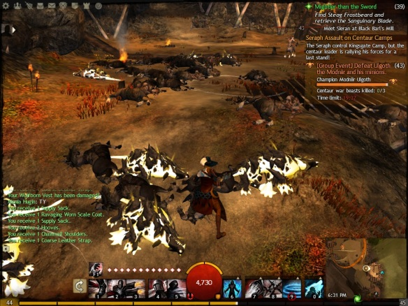 Battling the centaurs during a dynamic event chain in Guild Wars 2