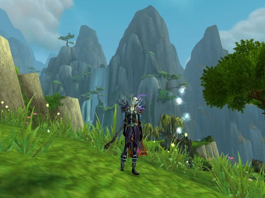 My warlock posing in the Jade Forest