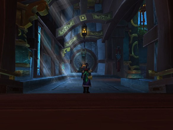 My rogue exploring the Temple of the Jade Serpent