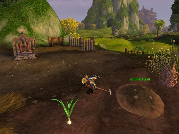 My rogue working on her farm in Halfhill in the Valley of the Four Winds