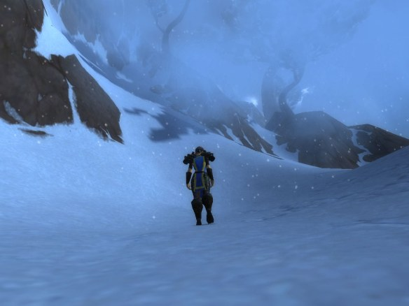 A snowstorm around Mount Neverest in Kun-Lai Summit
