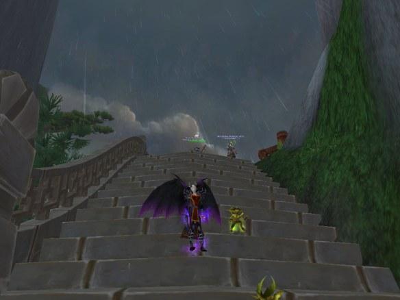 "My warlock running the ""A Brewing Storm"" scenario"