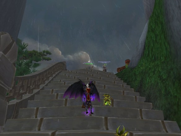 "My warlock running the ""A Brewing Storm"" scenario"