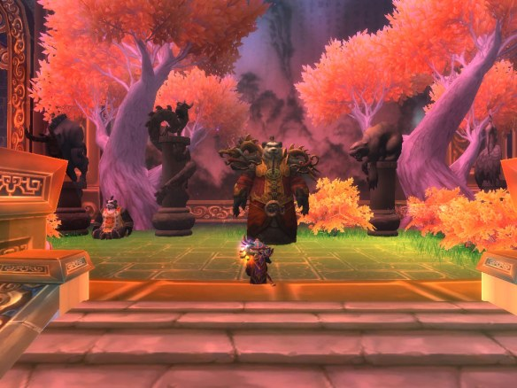 Lorewalker Cho telling me the tale of Emperor Shaohao in World of Warcraft: Mists of Pandaria