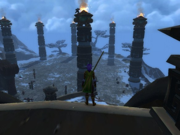 My Night Elf monk at the Peak of Serenity in World of Warcraft: Mists of Pandaria