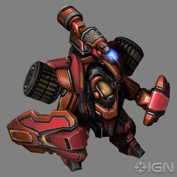 The new Hellbat unit from Starcraft II: Heart of the Swarm