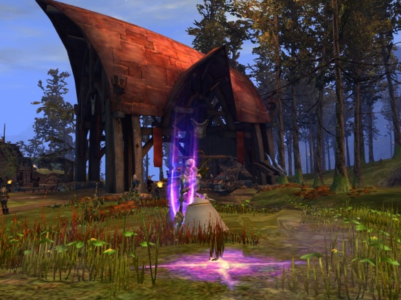 My mesmer using a greatsword skill in Guild Wars 2