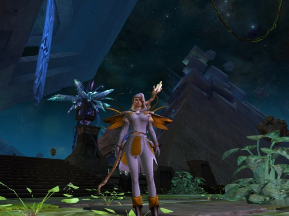 My mesmer showing off her gear in Rata Sum