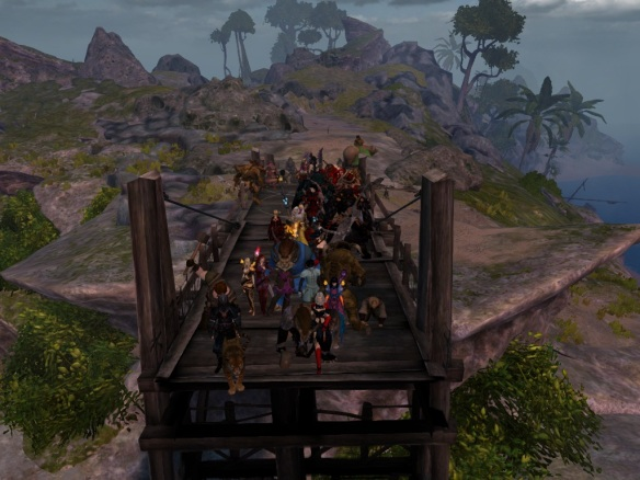 Building the bridge on the Lost Shores in Guild Wars 2