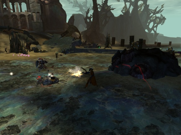 My thief battling in the Straits of Devastatio in Guild Wars 2