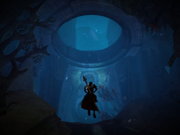An underwater personal story quest in Guild Wars 2
