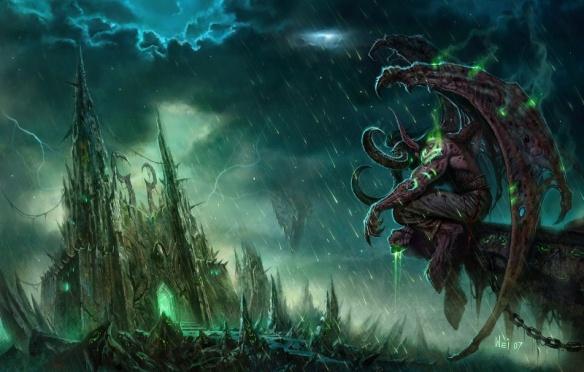 Art of Illidan Stormrage at the Black Temple
