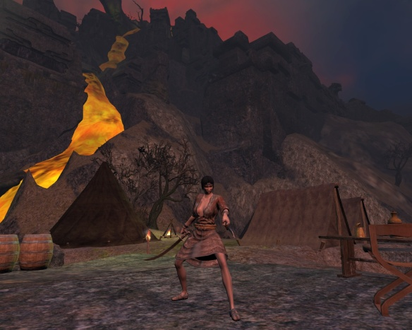 My ranger by the volcanoe on Tortage Island in Age of Conan