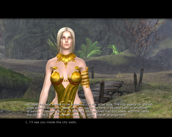 Casilda flirting with my character in Age of Conan
