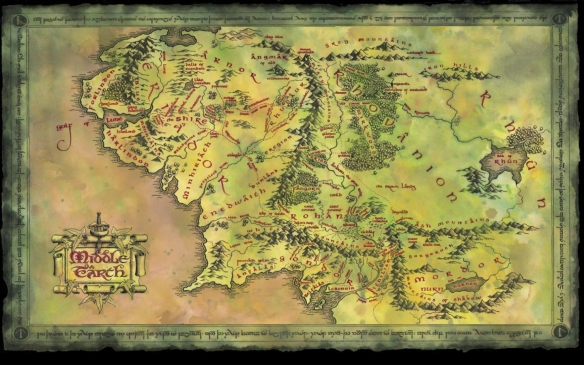 A map of Middle Earth