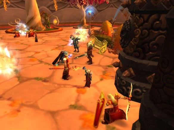 My warlock meets with Lor'themar Theron following the Purge of Dalaran