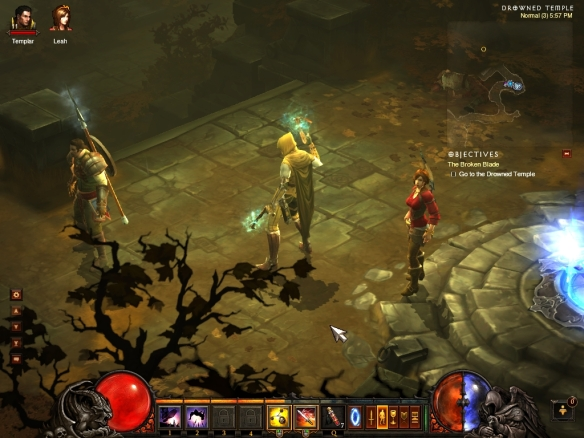 A close-up of my demon hunter in Diablo 3
