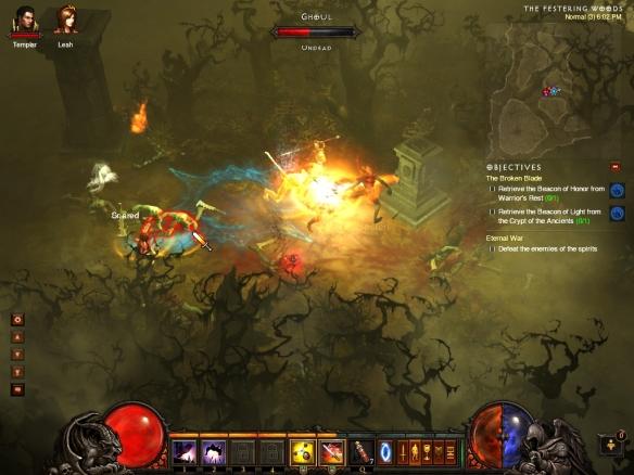 My demon hunter blasting with bola shot in Diablo 3